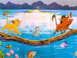 Lion King Wall Mural Mural Showing Scene From the Lion King Hakuna Matata What