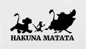 Lion King Wall Mural Sticker Hakuna Matata Wall Sticker Lion King Vinyl Decal Sticker