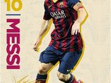 Lionel Messi Wall Mural Artwork Home & Kitchen Lionel Messi Fc Barcelona soccer