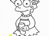 Lisa Simpson Coloring Pages 188 Best Simpson Images
