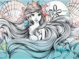 Little Mermaid Wall Mural Little Mermaid Ariel Art Silk Poster 24x36inch 24x43inch 0585 Cheap Wall Murals and Decals Cheap Wall Sticker From Wangzhi Hao8 $12 05 Dhgate