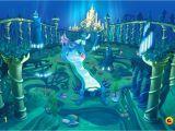 Little Mermaid Wall Mural the Little Mermaid Kingdom Oh