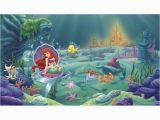 "Little Mermaid Wall Mural Walt Disney Kids Ii Littlest Mermaid 10 5 L X 72"" W Wall"
