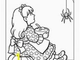 Little Miss Muffet Coloring Page Mother Goose Coloring Page Pre K Arts & Crafts