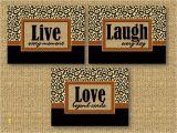 Live Laugh Love Wall Murals Leopard Cheetah Print Wall Art Room Decor Live Laugh Love