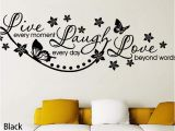 Live Laugh Love Wall Murals Vinyl Live Laugh Love Wall Art Sticker Lounge Room Quote Decal Mural Stencil Diy Decor Living Room Bedroom Fice Hg Ws 1535