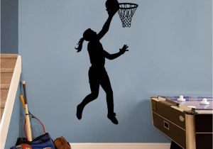 Locker Room Wall Murals Basketball Girl Layup Wall Decal Sweetums Wall Decals