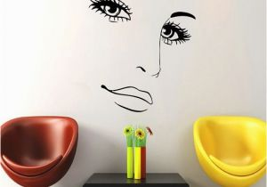 Locker Room Wall Murals Makeup Wall Decal Vinyl Sticker Decals Home Decor Mural Make Up Girl