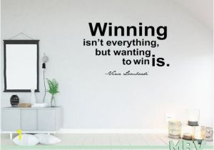 Locker Room Wall Murals Vince Lombardi Wall Quote Winning isn T Everything Decal Wall