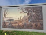 Log Cabin Wall Mural Paducah Flood Wall Mural Picture Of Floodwall Murals