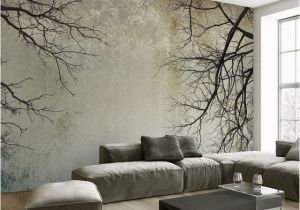 Log Cabin Wallpaper Murals Living Room Bedroom Wall Papers 3d Vintage Tree Branch Painting