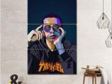 Logic Mural Logic Rapper Musicain Wpap Canvas Giclee Print Painting