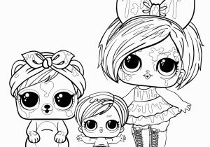 Lol Doll Little Sister Coloring Pages Doll Lol Blot with A Pet and Sister Coloring Pages for You
