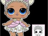 Lol Girl Coloring Pages Flower Child Series 3 L O L Surprise Doll Coloring Page