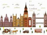 London Bridge Wall Mural British Style London Wall Decal Sticker Big Ben tower Bridge
