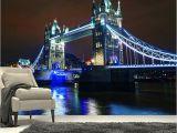 London Bridge Wall Mural Us $13 05 Off Niestandardowe 3d Duży Mural Most London Bridge Pod Pięknym światła W Nocy Pok³j Dzienny Kanapa Tv Wall Sypialnia Tapeta W Tapety