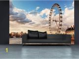 London Skyline Wall Mural London Wall Mural for Interior London Eye Wallpaper for Wall Decor London Wall Decal for Home London Wall Mural for Living Room Sku