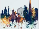 London Skyline Wall Mural Michael tompsett London Skyline Tall Blue Canvas Art 24