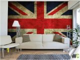 London themed Wall Murals A Vintage Wall Mural Of the Union Jack