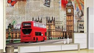 London themed Wall Murals Amazon Murals Custom 4d Wallpaper Building Series Big