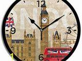 London themed Wall Murals Amazon Yiihaanbuy London Building Big Ben Wall Clock
