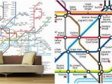 London Underground Wall Mural Free London Underground Tube Map Designer Wallpaper