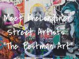London Underground Wall Mural Meet the Londoner the Street Artists Of the Postman Art
