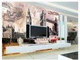 London Wall Mural Wallpaper Custom 3d Silk Mural Wallpaper Retro European Building Big Ben London tower Bridge Bar tooling Background Wall Sticker Widescreen High