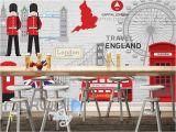 London Wall Mural Wallpaper London England Travel Red Art Wall Murals Wallpaper Decals