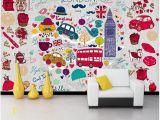 London Wall Mural Wallpaper Wdbh Custom 3d Wallpaper British London Style Romantic Cute Cartoon Wall Home Decor Living Room Wallpaper for Wall 3 D Wallpaper Hd Wallpaper