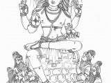Lord Shiva Coloring Pages Daksinamurti Hindu Gods Coloring Book