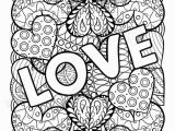 Love True Love Coloring Pages for Adults Detailed Love and Hearts Coloring Page for Adults In 2020