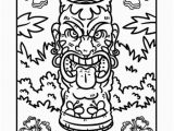 Luau themed Coloring Pages Tiki Coloring Page Luau Party Pinterest