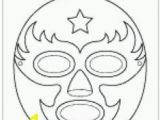 Luchador Mask Coloring Page 38 Best Luchador Stuff Images