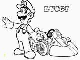 Luigi Mario Kart Coloring Pages Unique Mario Kart Coloring Pages Coloring Pages