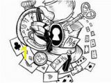 Mad Hatter Hat Coloring Page 716 Best Coloring Pages Images
