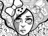 Mad Hatter Hat Coloring Page Trippy Coloring Pages