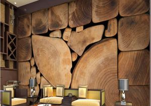 Made to Measure Wall Murals Custom Wall Murals Woods Grain Growth Rings European Retro Painting