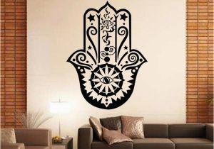 Magic Murals Discount Code Art Design Hamsa Hand Wall Decal Vinyl Fatima Yoga Vibes Sticker