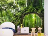 Magical forest Wall Mural Beibehang Classic Interior 3d Wallpaper Magical forest Cafe