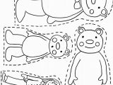 Magnet Coloring Page 3 Bears Printable Want Use to Make Magnet Board Pieces for