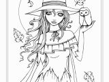 Maid Coloring Page Autumn Fantasy Coloring Book Halloween Witches Vampires and
