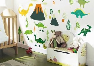 Make Wall Mural From Photo 2019 New Big Stickers Dinosaur Cartoon Diy Wall Decor Kids Room Self Adhesive Waterproof Wallpaper Gift for Children Y Paper Wall Murals