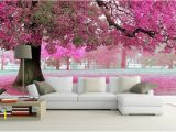 Make Your Own Mural Wallpaper 3d Wallpaper Bedroom Mural Roll Romantic Purple Tree Wall Background
