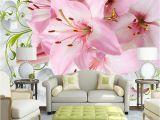 Make Your Own Mural Wallpaper Custom Mural Wallpaper Modern 3d Non Woven soft Case Lily Flower