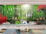 Make Your Own Wall Mural Custom 3d Wall Mural Wallpaper Nature Landscape Hd Red Trees Trees