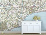 Make Your Own Wall Mural Photo Custom ordnance Survey Map Wallpaper Modern by Love Maps On