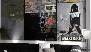 Man Cave Wall Murals Man Cave Interiors Cool Bachelor Pad Living Room with Wall Art