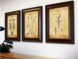 Man Cave Wall Murals Personal Prints Golf 3 Piece Framed Wall Art Set