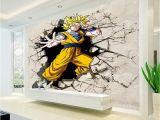 Man On the Moon Wall Mural Dragon Ball Wallpaper 3d Anime Wall Mural Custom Cartoon